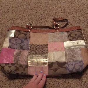 Coach purse and matching wristlet
